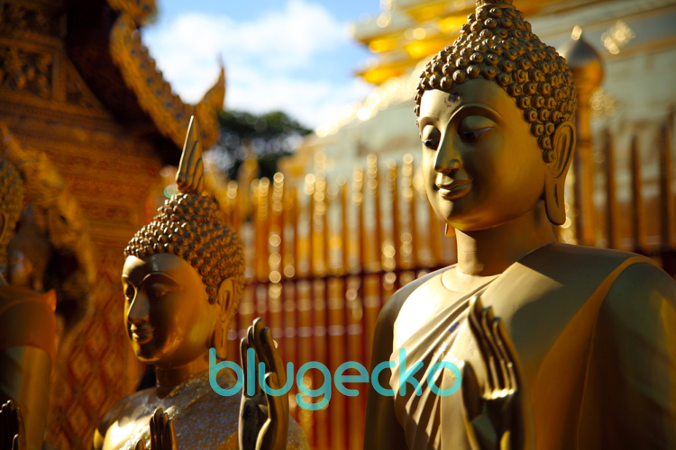 Standding Buddhas at Doi Suthep Temple